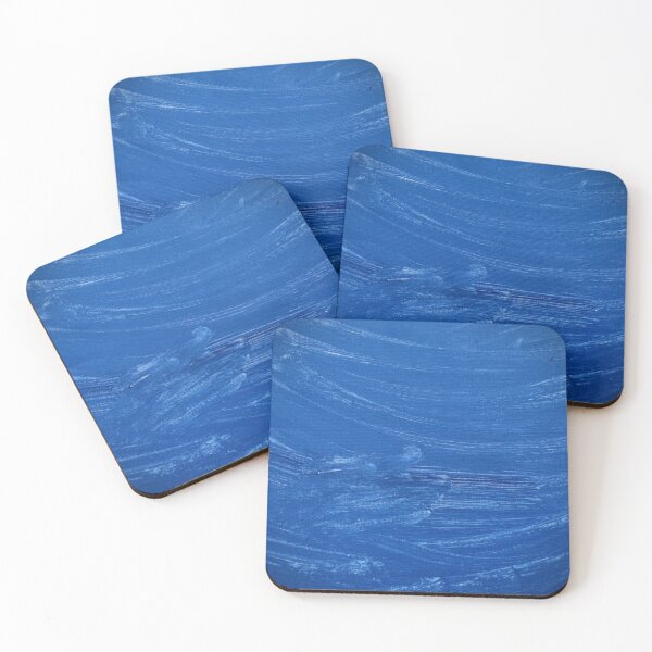 Breezy Blue Abstract Coasters (Set of 4)