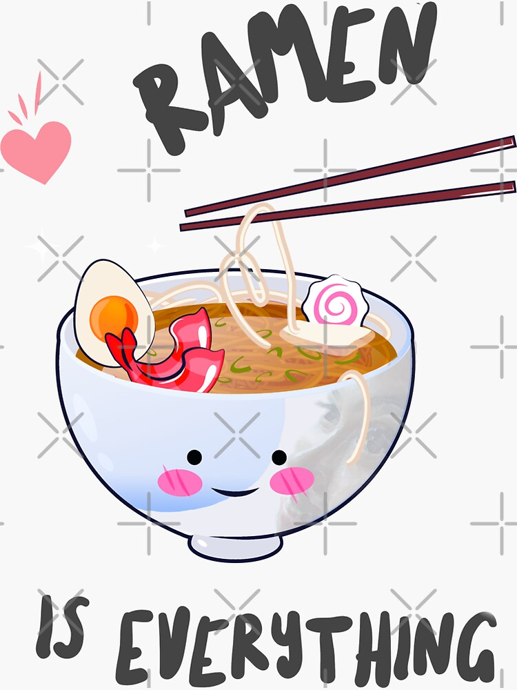 Colorful Ramen is Everything to Me Design by bowiebydesign