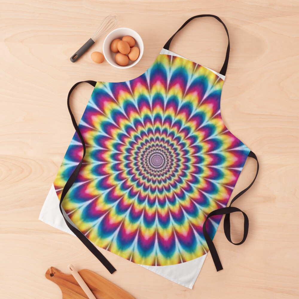 Psychedelic Art, ur,apron_realistic_flatlay,square,1000x1000