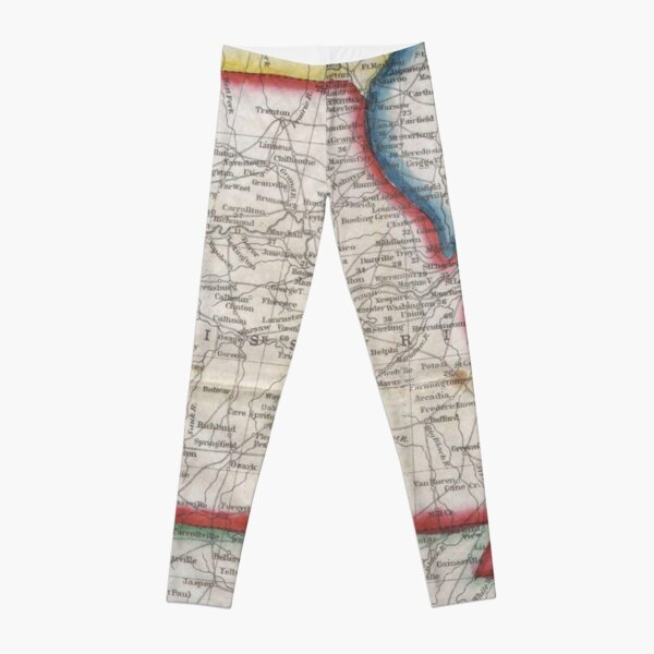 Vintage Map of Missouri (1848) Leggings
