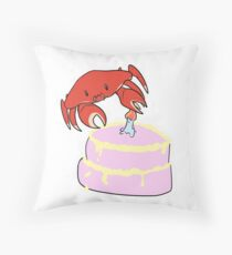 Crab Cakes Throw Pillow