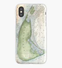 Vintage Map of Nantucket (1857) iPhone Case/Skin