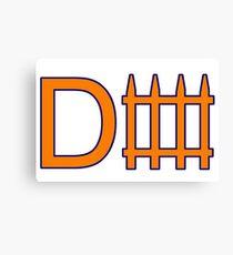Denver D Fence Orange  Canvas Print