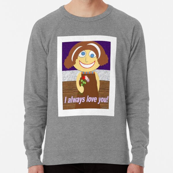 Simple childlike drawing about the purity of love Lightweight Sweatshirt