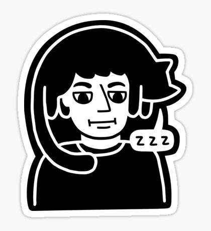 Hat Cat Nap Glossy Sticker