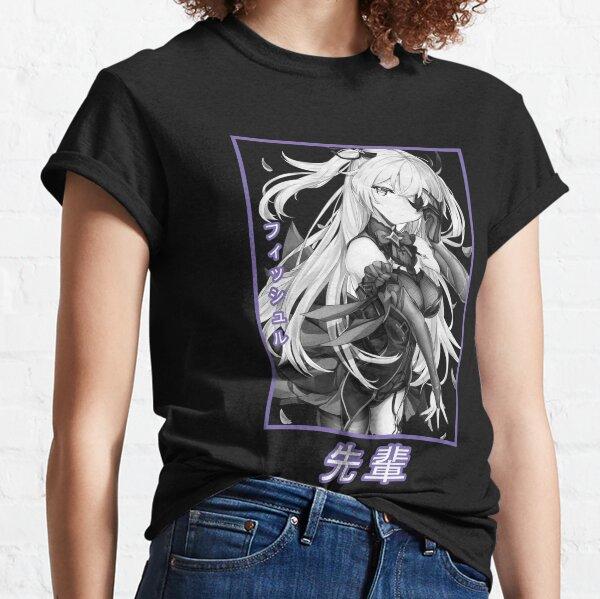 Fischl T-Shirt Gray Propaganda Genshin Impact