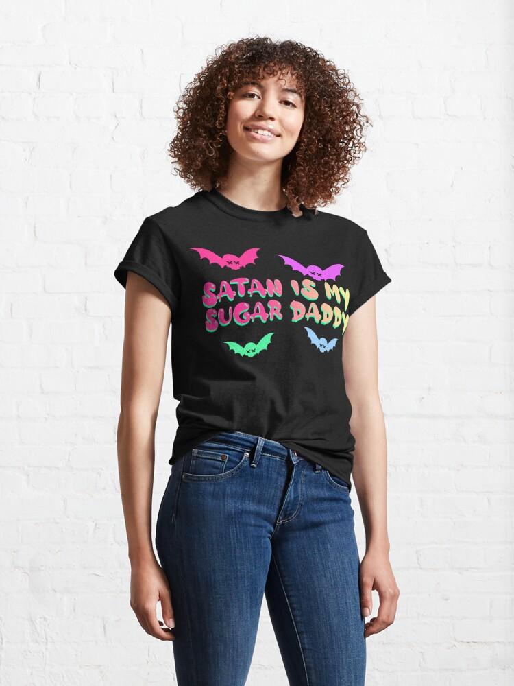 Alternate view of Pastel Goth - Satan Is My Sugar Daddy Classic T-Shirt