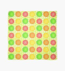 Citrus Fruits and Polka Dots Scarf