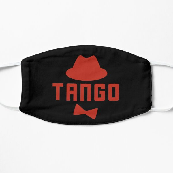 Cute Tango Art Red Fedora Hat and Bowtie Flat Mask