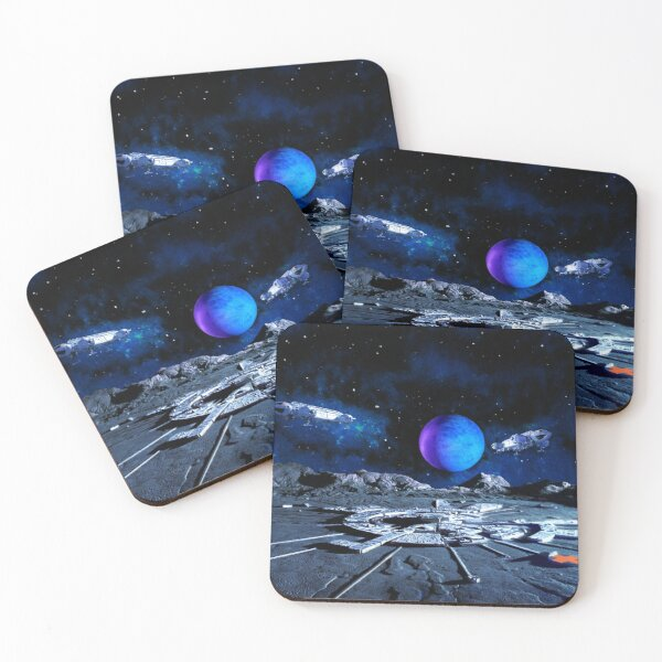 EAGLE TLS+SB OVER ALPHA WITH PLANET 20200225 Coasters (Set of 4)