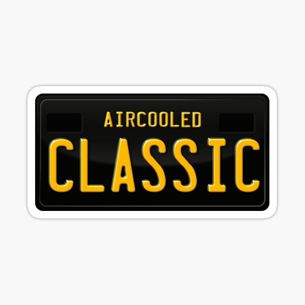 Aircooled Classic License Plate Artwork Sticker