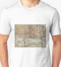 Vintage Map of Toronto (1894) Unisex T-Shirt