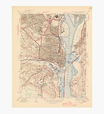 Vintage Map of Alexandria Virginia (1945) Photographic Print