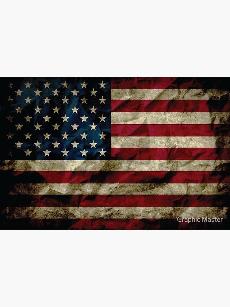 American Vintage Distressed Flag US Flag by kzadro