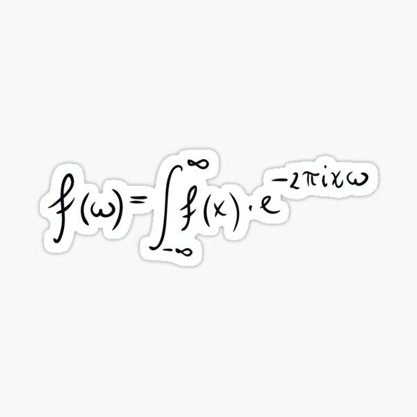 Fourier transform Sticker