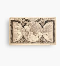 Old world map drawing metal prints redbubble vintage map of the world 1630 metal print gumiabroncs Images