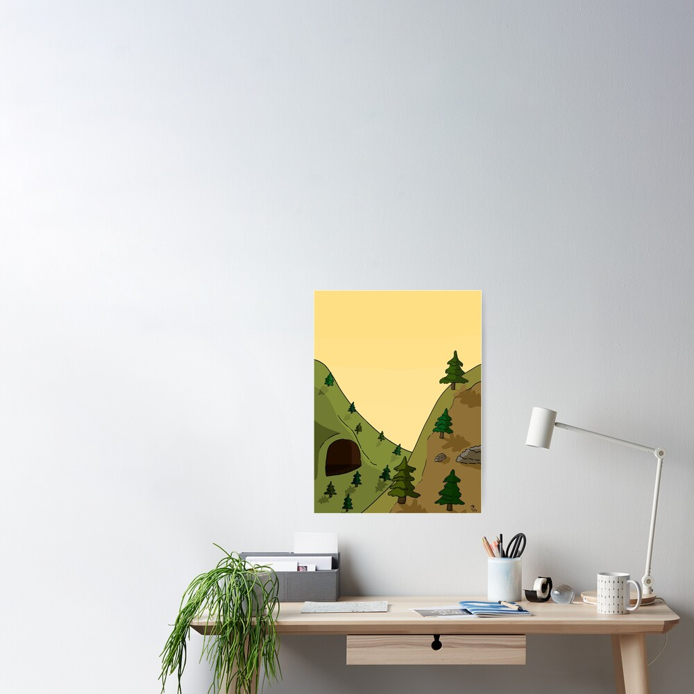 Valley With Cave Poster By Mason Vanwormer Redbubble