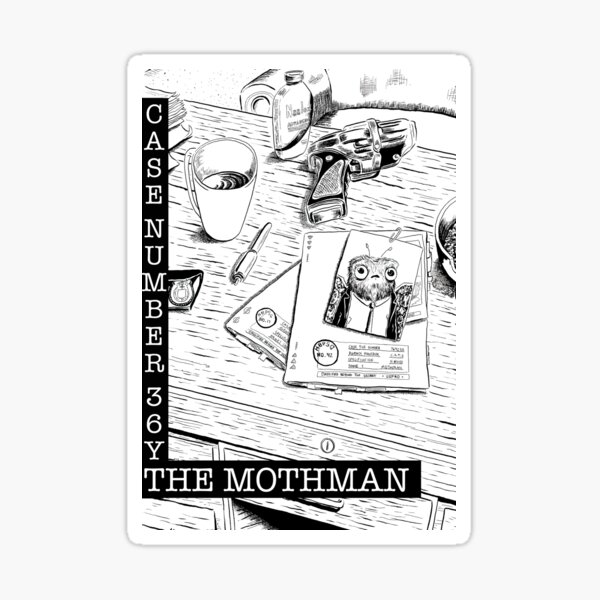 From the HBPSG Chapter Cover Page; The Mothman Sticker