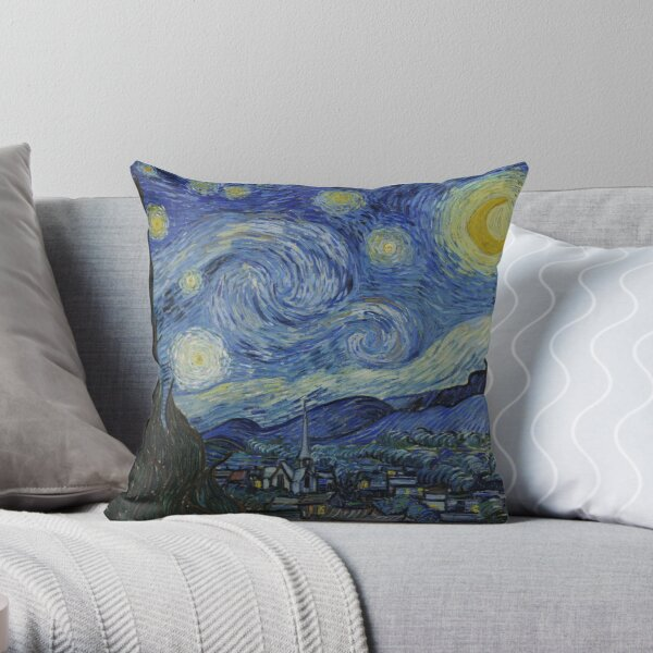 Vincent van Gogh Iconic Starry Night Throw Pillow