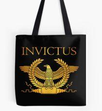 Roman Invictus Eagle, Golden on Black Tote Bag