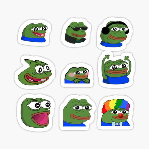 Autocollants Peepo Meme Emote Sticker