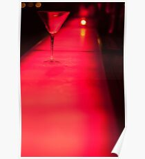 Red martini glass Poster