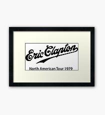 eric clapton tour  Framed Print