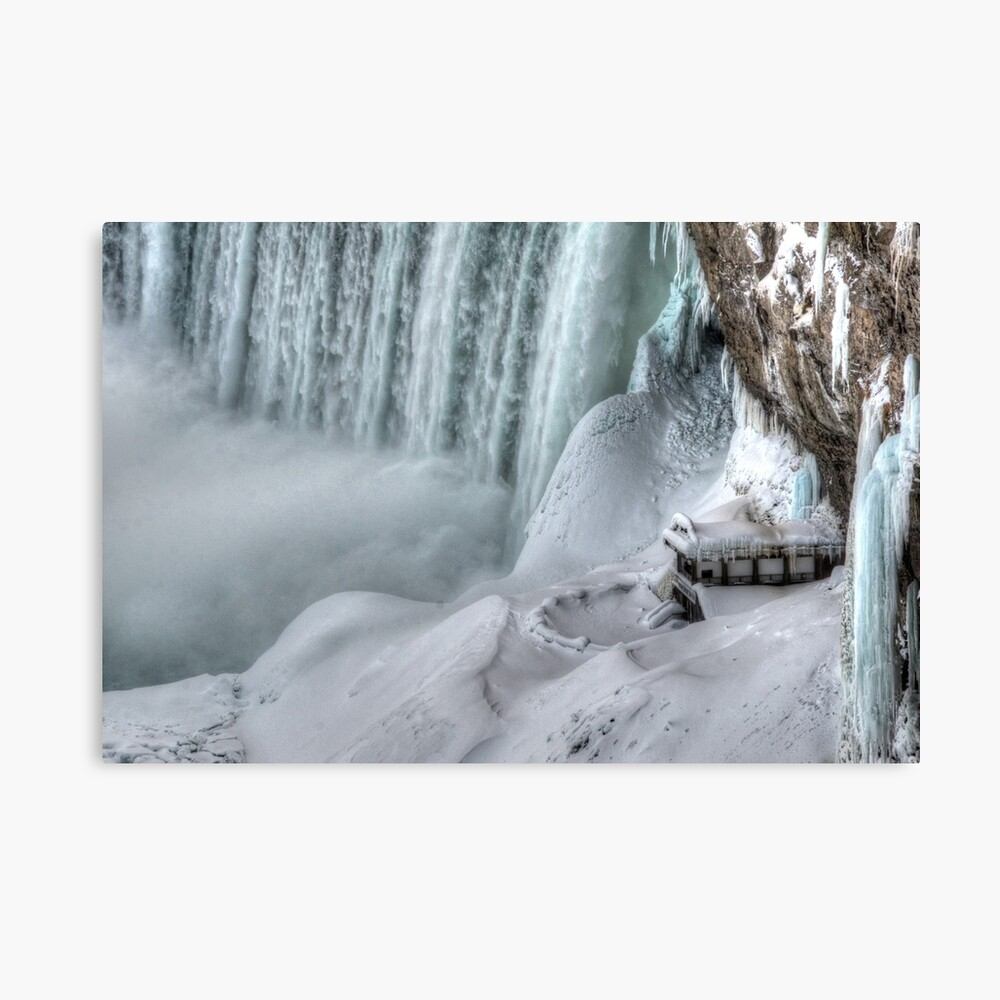 House by the falls Canvas Print