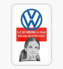 SO WRONG  Sticker