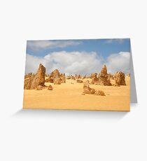 The Pinnacles at Nambung National Park Western Australia Greeting Card