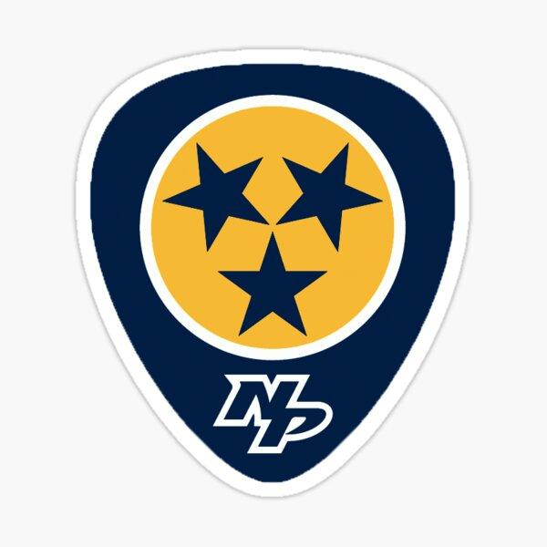 Nashville Predators guitar pick Sticker