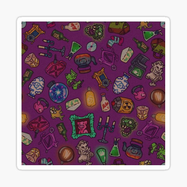 Magenta objects of life Sticker
