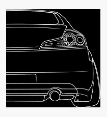 G35 rear outline - white Photographic Print
