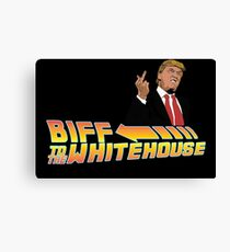Biff To The White House Canvas Print