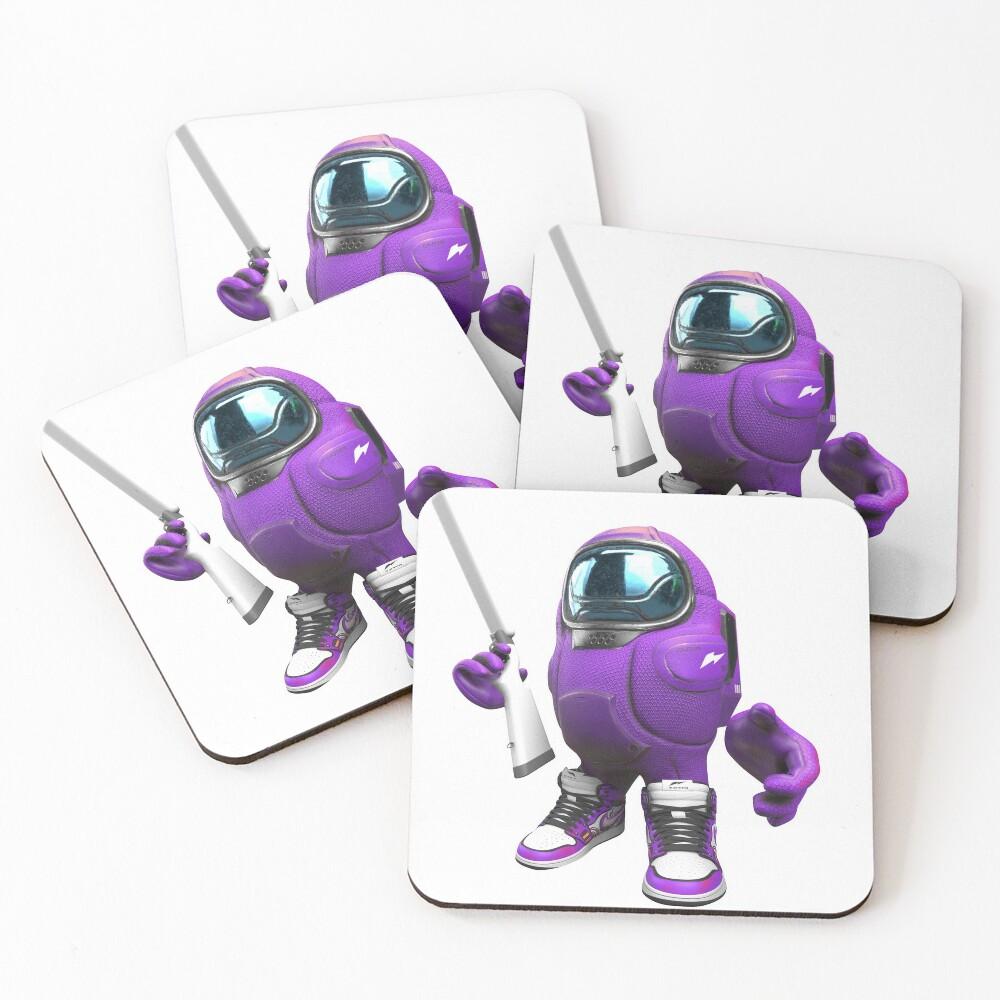 Among Us Drip Purple Coasters Set Of 4 By Tohski Redbubble