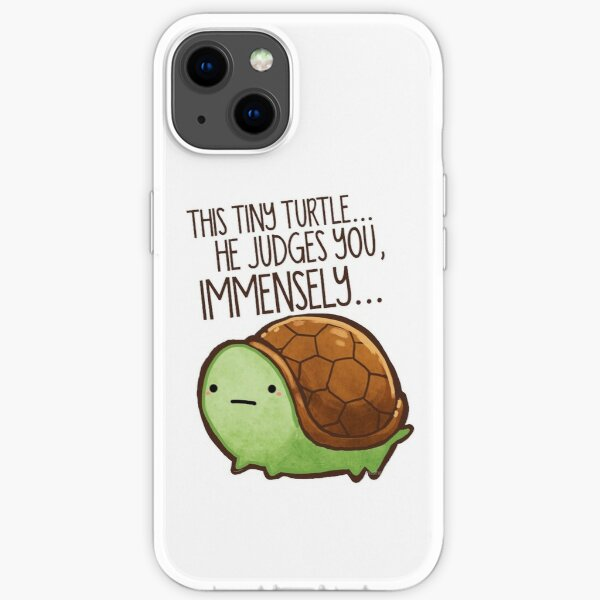Tiny turtle judges you immensely  iPhone Soft Case