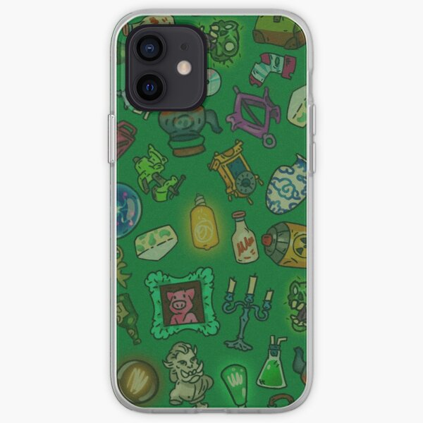 Green objects of life iPhone Soft Case