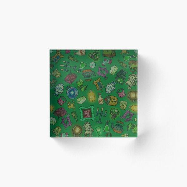 Green objects of life Acrylic Block