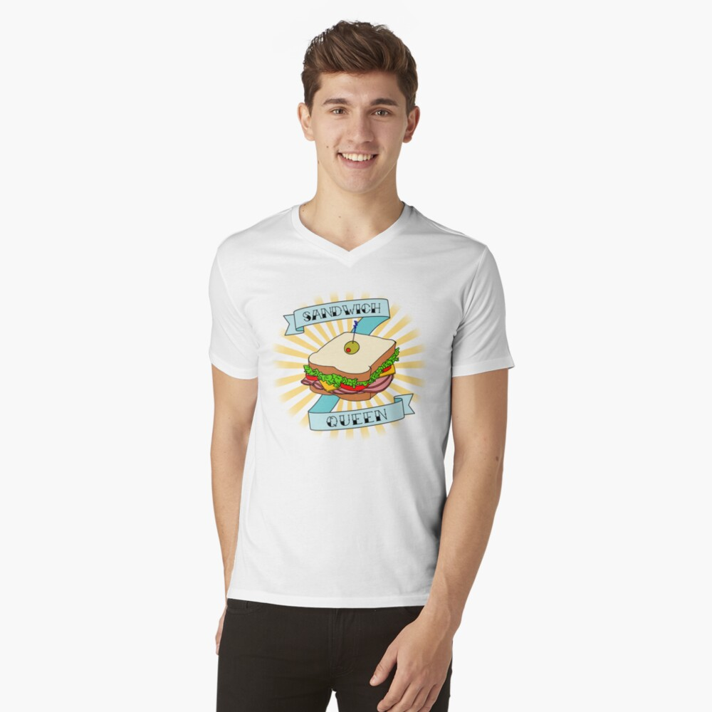 Sandwich Queen V-Neck T-Shirt