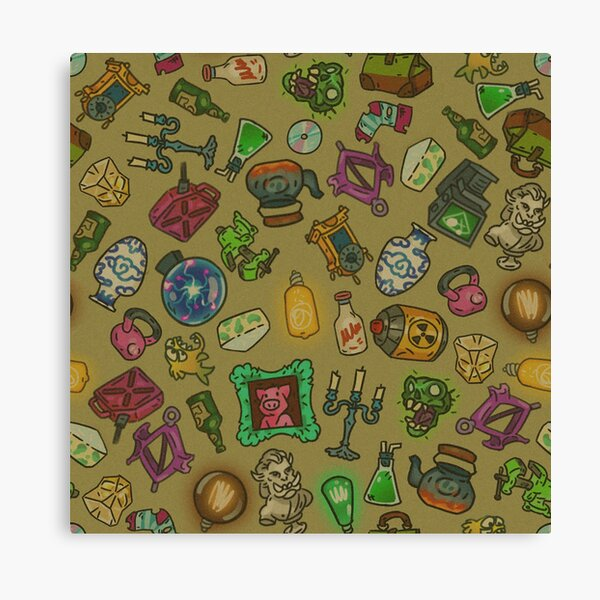 Beige objects of life Canvas Print