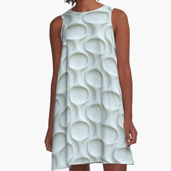 Space Age 60s Mod White A-Line Dress