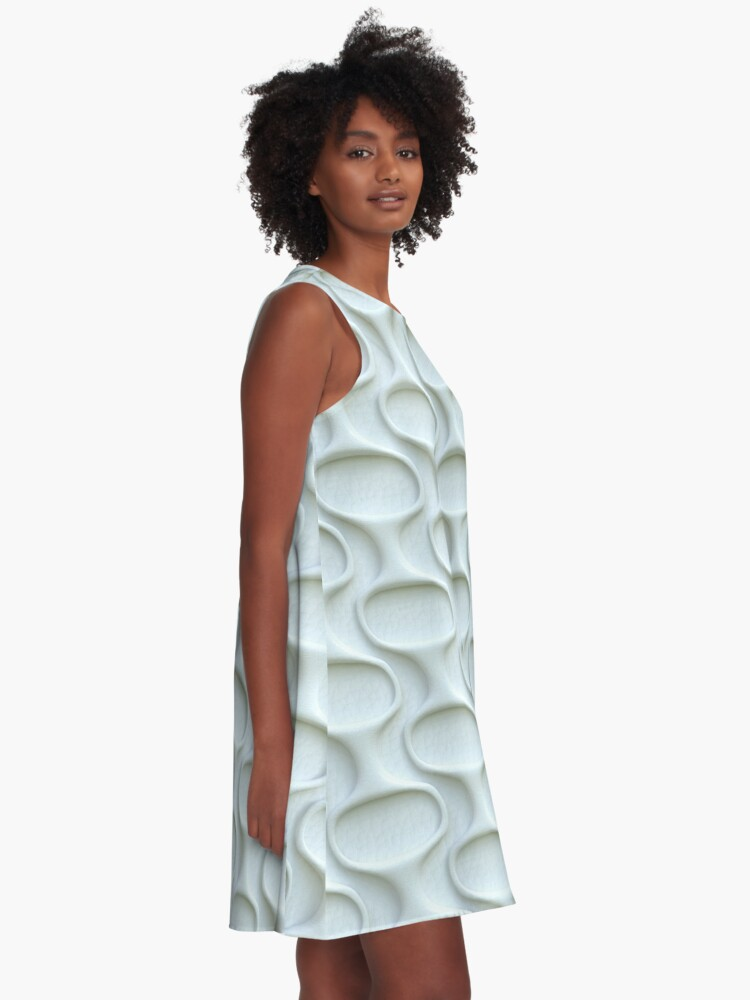 Alternate view of Space Age 60s Mod White A-Line Dress