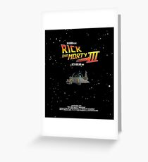 BTTF Style Rick And Morty Season 3 Poster Greeting Card