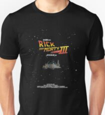 BTTF Style Rick And Morty Season 3 Poster Unisex T-Shirt