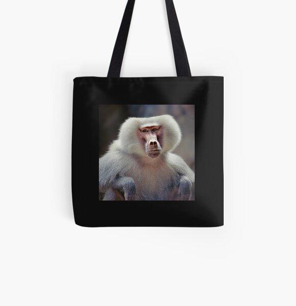 hamadryas baboon  All Over Print Tote Bag