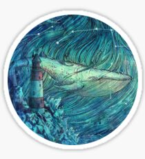 Moonlit Sea Sticker