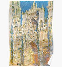 1894-Claude Monet-Rouen Cathedral, West Façade, Sunlight-65 x 100 Poster