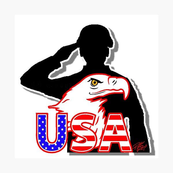 Salute USA Photographic Print
