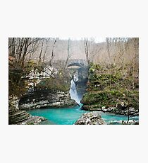 Waterfall on Kozjak River Photographic Print