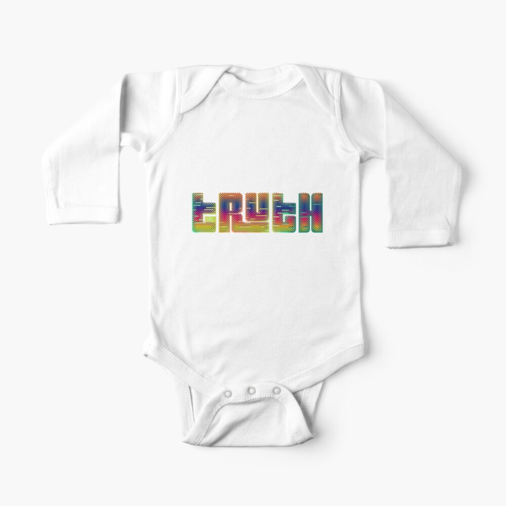 TRUTH Bold Text Plaid Glitch Design Baby One-Piece